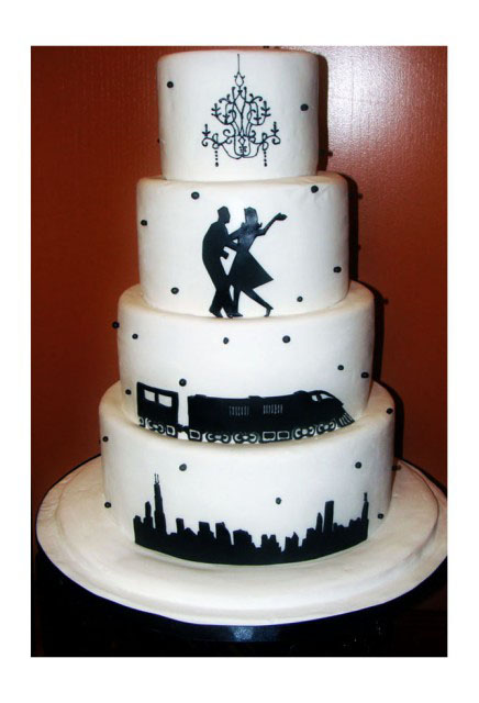 unique wedding cakes for chicago