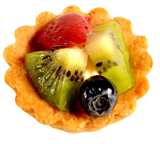 fruit tart vienna tart shell filled with vanilla pastry cream and ...